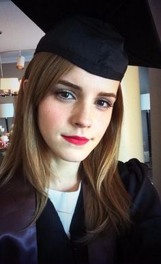 """It's graduation day for movie star Emma Watson. The British actress best known as Hermione Granger in the """"Harry Potter"""" movies is set to be among the graduates receiving degrees Sunday from Brown University. Lucy Watson, Alex Watson, Emma Watson Drunk, Emma Watson College, Mary Elizabeth Winstead, Olivia Newton John, Jessica Chastain, Teresa Palmer, Hermione"""