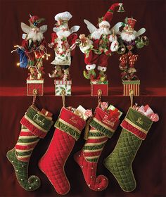 Mark Roberts has been designing Christmas collectibles for 30 years, creating charming accents, ornaments and stocking holders that are prized worldwide. The company's signature fairies each have a unique story, expressing the wonders and joys of the holidays with playful and mischievous flair.