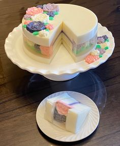Jello Desserts, Flower Designs, Vanilla Cake, Yogurt, Jelly, Nom Nom, Recipes, Food, Jello Cake