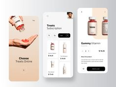 Hims – Pharmacy Mobile Application Hims – Ecommerce Mobile Application by RonDesignLab Design Android, App Ui Design, Interface Design, Design Layout, Design Design, Design Color, User Interface, Wireframe Mobile, Mobile App Ui