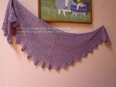 free crochet - dk - A simple shawl, made side to side,with a rounded triangle shape, it can be made to any size desired, using any yarn weight and appropriate hook for drape. If you use another type of yarn, and different sizing, then the amounts will vary.