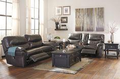 Ashley Banetonville Genuine Leather sofa in Houston