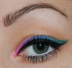 Image result for colored eyeliner trend