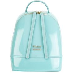 Furla Candy Backpack ($196) ❤ liked on Polyvore featuring bags, backpacks, blue, blue backpack, backpacks bags, furla bags, blue bag and day pack backpack
