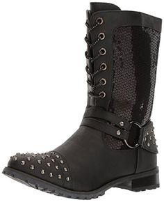 Gia-Mia Dancewear Women's Chic Combat Boot, Black, 7 Medi...