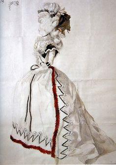 Drawing of Marie Antoinette