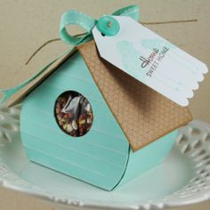 Birdhouse with seeds--cute housewarming or new neighbor gift