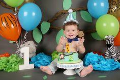 South Jersey Photographer: K Artocin Photography | 1st Birthday/Cake Smash, jungle theme boy