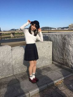 桜井 日奈子さん Japanese School, School Uniform, Leather Skirt, High Waisted Skirt, Beautiful Women, Hipster, Asian, Womens Fashion, Pretty