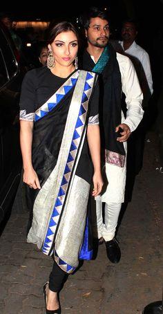 Best Dressed: Soha Ali Khan in Anamika Khanna at Saif Ali Khan and Kareena Kapoor wedding.