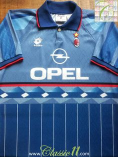 98cf090e5f5 Relive AC Milan s 1995 1996 season with this vintage Lotto 3rd kit football  shirt.