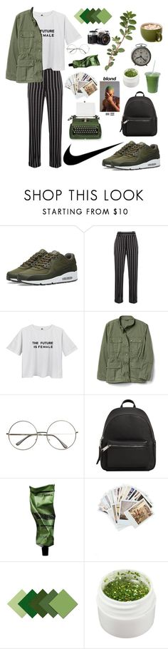 """""""nikes // frank ocean"""" by songinspiredfits ❤ liked on Polyvore featuring NIKE, Haider Ackermann, LIST, MANGO, Aesop, Chronicle Books and Paul Frank"""