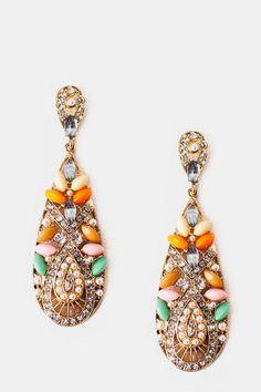 Moroccan Jeweled Teardrop Earrings                       - Francescas