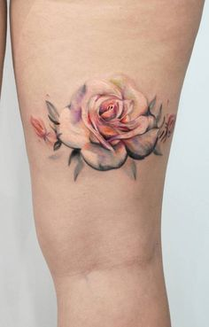 2017 trend Tattoo Trends - awesome rose tattoo ideas © tattoo artist Katerina K. - New Tattoo Trend Pretty Tattoos, Unique Tattoos, Beautiful Tattoos, Artistic Tattoos, Tatouage Sublime, Tattoos For Guys, Tattoos For Women, Tattoo Women, Tattoo Minimaliste