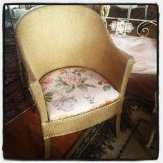 Beautiful Vintage Lloyd Loom Floral Chair