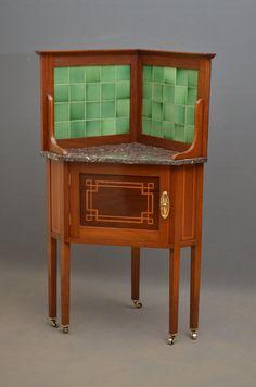 Edwardian Corner Cabinet - Corner Washstand - Antiques Atlas