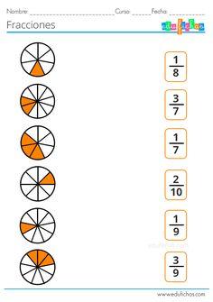 Fracciones para Niños | Ejercicios con Equivalentes, Operaciones y más Math Fractions Worksheets, Learning Fractions, Addition And Subtraction Worksheets, 2nd Grade Math Worksheets, Free Math Worksheets, Maths Puzzles, School Worksheets, 1st Grade Math, Math School