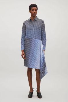 COS   Shirt dress with asymmetric drape