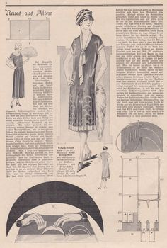 neuesausaltem | nachmittagskleid 1927 | flappersparadise | 1920er Dress Pattern