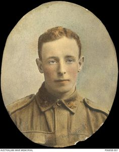 """Private Charles Leslie Harding McAdam, 39th Battalion. He served for 3 years as a senior cadet in the 48th Battalion and 2 years in the Citizens Military Forces before enlisting on 18 February 1916. Eyewitness accounts from his Australian Red Cross Wounded and Missing File state """"He took part in the stunt on Oct 4th ...he was light in build with very pleasant features and a lovely disposition"""". He was killed instantly by bullet wound to the chest at the attack on Broodseinde on 4 October…"""