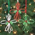 Foam Strip Cross Ornament Craft Kit. Christmas craft ideas for kids.