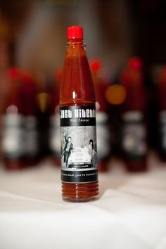 Sarah, tell Chris he could do something like this as a wedding party gift since he and his best man like hot sauce...maybe a small assortment packaged in a metal pail ????