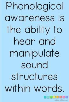 Why is phonological awareness so important? Without these important skills, potential reading difficulties may arise in the early years. Phonics Rules, Teaching Phonics, Preschool Literacy, Phonics Activities, Teaching Reading, Kindergarten Phonics, English Activities, Reading Strategies, Reading Skills