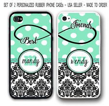 Personalized mint polka dots damask bff best friends 2 cases for iphone 7 6 Best Friend Cases, Bff Cases, Friends Phone Case, Ipod Cases, Cute Phone Cases, Best Friends, Friends Forever, Iphone 7, Iphone Phone Cases