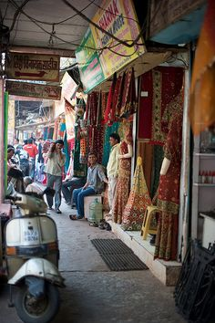 Old Delhi, India - lI would love to just walk around here with you shopping and eating and of course cracking up... :)