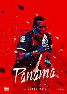 Panama : La Marea Roja = The Red Tide! Soccer Cup, Youth Soccer, Soccer Stars, Football Art, World Football, Football Jerseys, Football Posters, World Cup 2018 Teams, Fifa World Cup