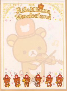 Rilakkuma Wonderland mini note pad parade marching band 4