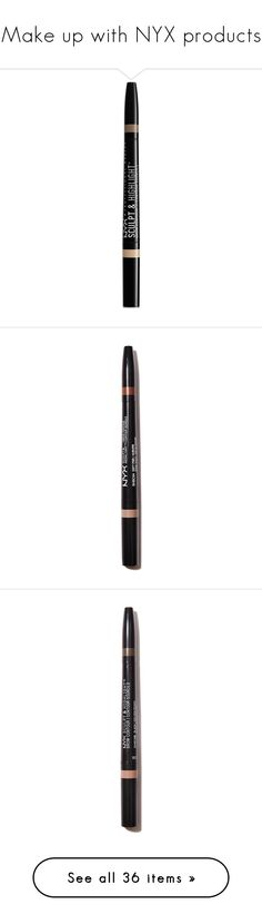 """""""Make up with NYX products"""" by azra612 ❤ liked on Polyvore featuring makeup, nxx, beauty products, brow makeup, nyx, eyebrow makeup, highlight makeup, nyx makeup, eye makeup and nyx cosmetics"""