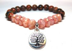 Pink Tree of Life Bracelet – BlueStoneRiver