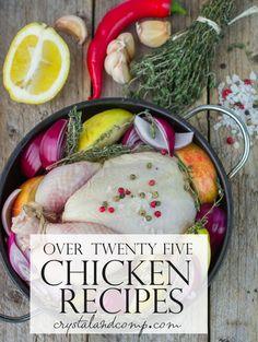 over 25 chicken recipes