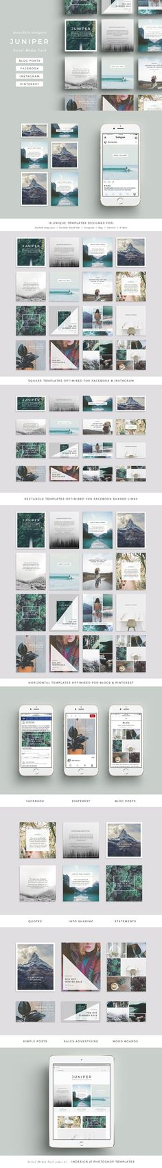 A Beautiful Multipurpose Social Media Pack Covering all Bases With Easy to use Templates INDD, PSD