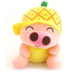 17cm Cute Fruit Mcdull Pig Plush Toy Soft Stuffed Animal Doll(Pineapple) *** Read more reviews of the product by visiting the link on the image. (This is an affiliate link) #StuffedAnimalsPlushToys