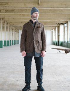 Engineered Garments Brown 13oz Wool Flannel Baker Jacket