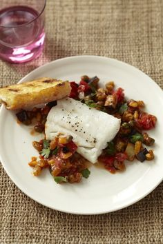 Cod with Eggplant Caponata from familycircle.com #myplate #seafood