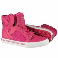 Produit en Promotion   Baskets Supra Enfant - Kids Skytop Shoes Crazy Pink-White