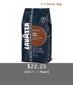Lavazza Super Crema Espresso - Whole Bean Coffee, 2.2-Pound Bag (Packaging May Vary) | Easy Buy