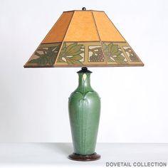 Beautiful use of Bradbury wallpaper in this lampshade by Jill Lawrence, featured at Dovetail Gallery in Healdsburg. #bradburywallpaper