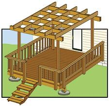 Deck pergola plans Pergola Designs First measure the Spaces Pergola Design Decor and Ideas page 19 wood color is kind of unique if we re do the deck Free Pergola Plans, Patio Pergola, Wood Pergola, Pergola Canopy, Pergola Swing, Deck With Pergola, Covered Pergola, Deck Plans, Pergola Shade