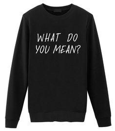Fellow Friends - Justin Bieber | What Do You Mean? Unisex Pullover: Amazon.de: Bekleidung