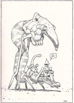 "Moebius - Doboltrobole From ""La Faune de Mars"" (Wildlife of Mars) - Moebius Productions, Stardom - Paris (March 2011)"