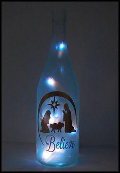 silueta en botella