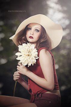 Flower Girl by Nikki Harrison Wide Brimmed Hats, Senior Girls, Woman, Flower, Ideas, Fashion, Headdress, Hat, Moda
