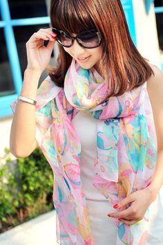 Sweet Floral Print Scarves - OASAP.com