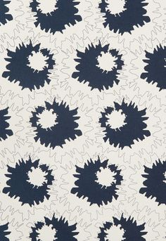 Fabric | Sally in Midnight | Schumacher - Accent fabrics for Living Area