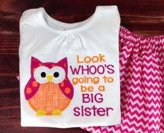 Big Sister Shirt and Skirt Outfit I'm Going to by SewSimplyBlessed Sister Shirts, Baby Shirts, Sibling Pregnancy Reveal, Cute Baby Girl, Cute Babies, Gender Reveal Announcement, Daycare Ideas, 2nd Baby, Girl Things