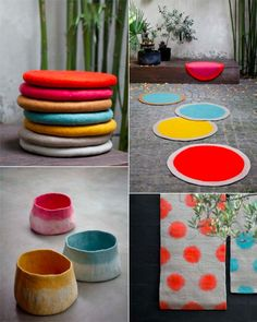 felt cushions and rugs from mukhane.fr